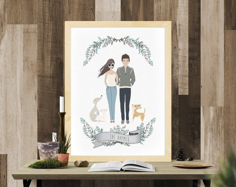 creative wedding gifts - custom portrait print