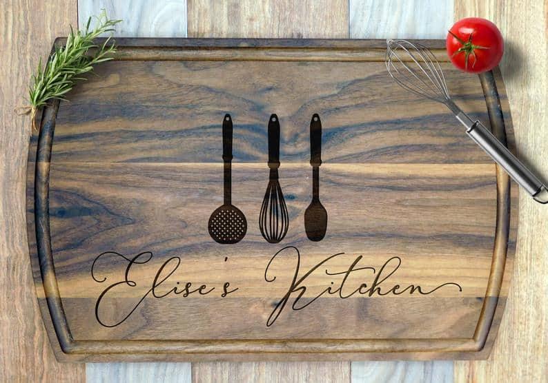 bridal shower gifts - cutting board