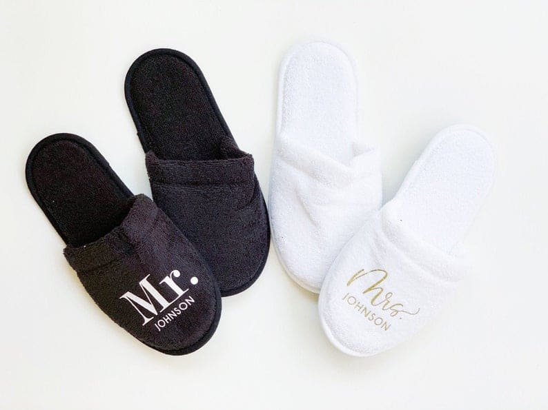 wedding gifts for young couples - slippers