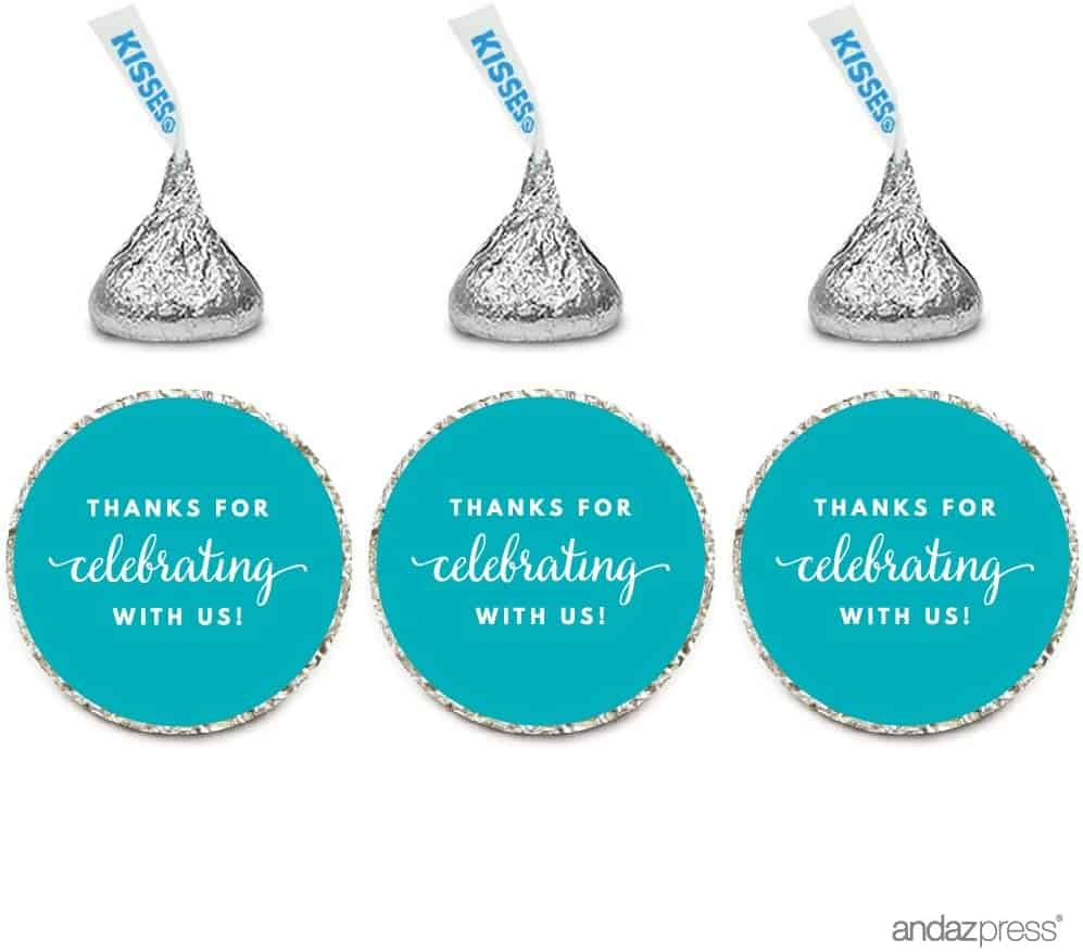 bridal shower favors - chocolate stickers