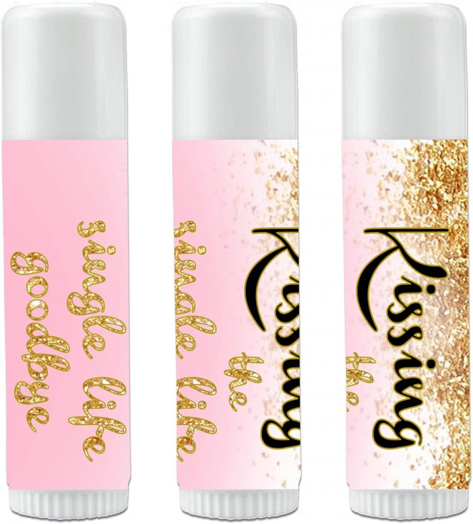 bridal shower favors - lip balms