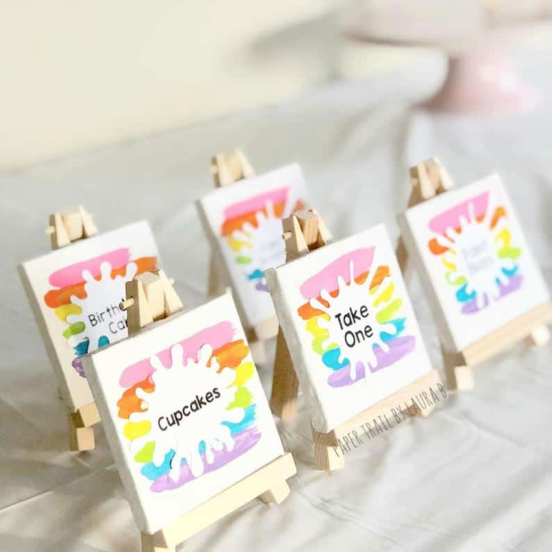 party gifts for guests - mini canvas