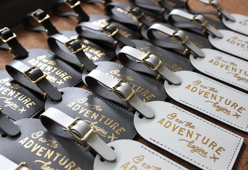 bridal shower favors - luggage tags