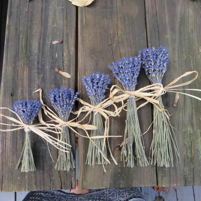 bridal shower favors - dried lavender