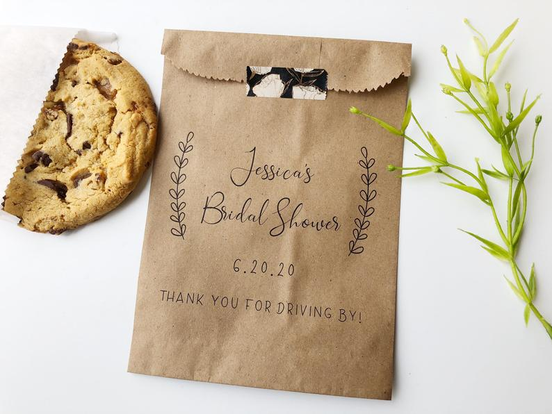 wedding shower favor idea - cookie