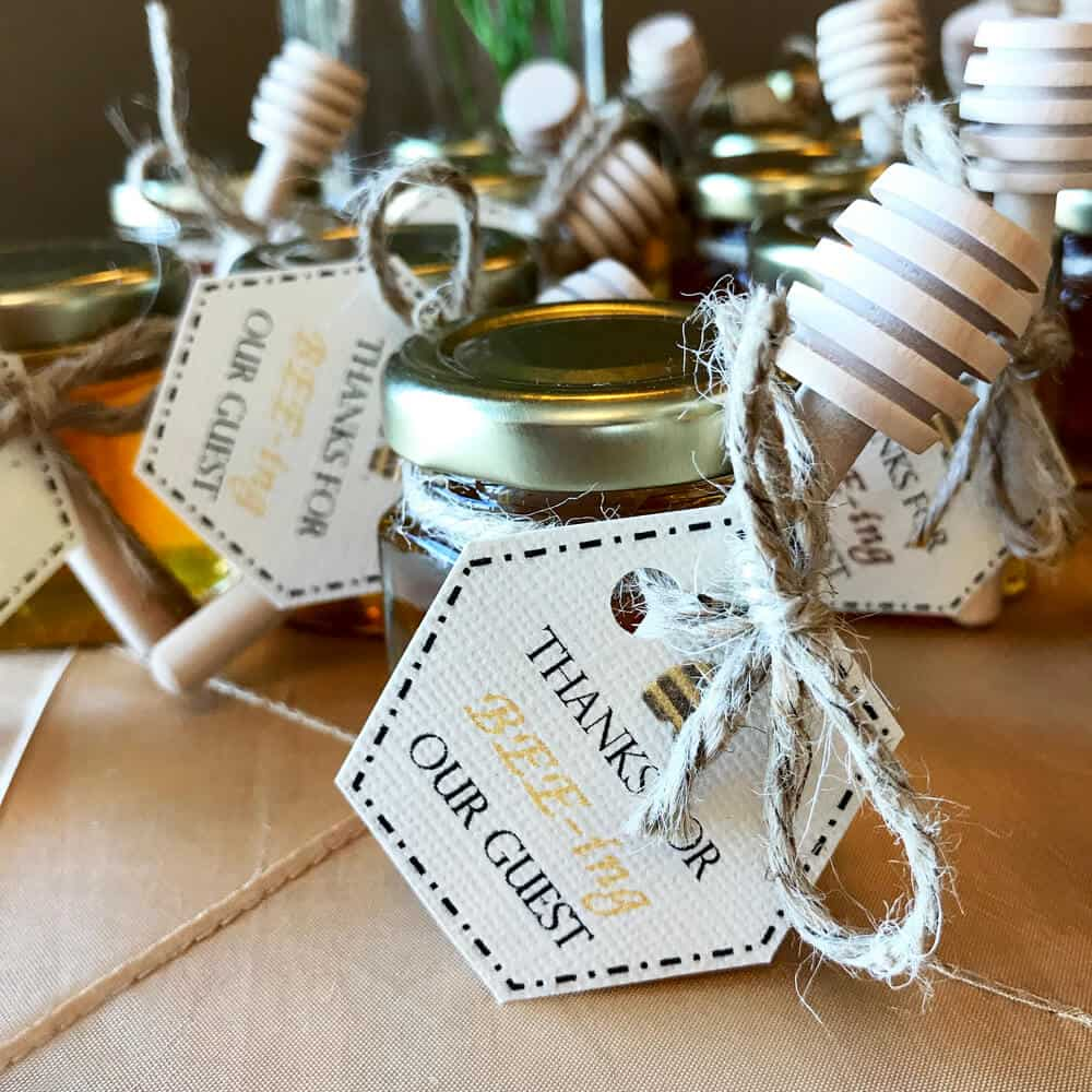 bridal shower favors - favor tags