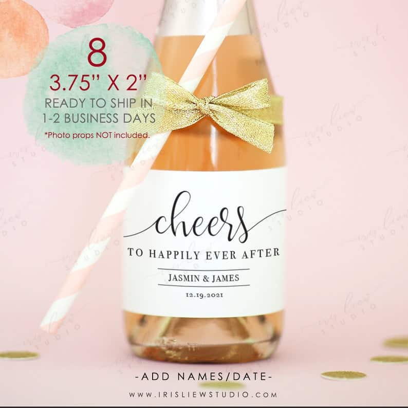 bridal shower favors - wedding champagne
