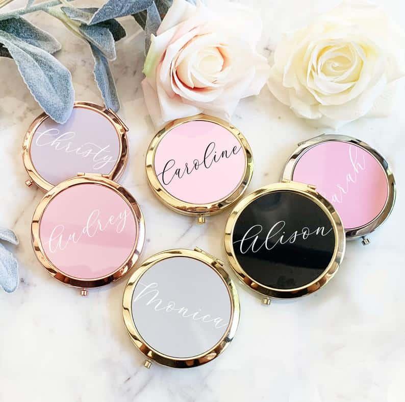 bridal shower favors - mirrors