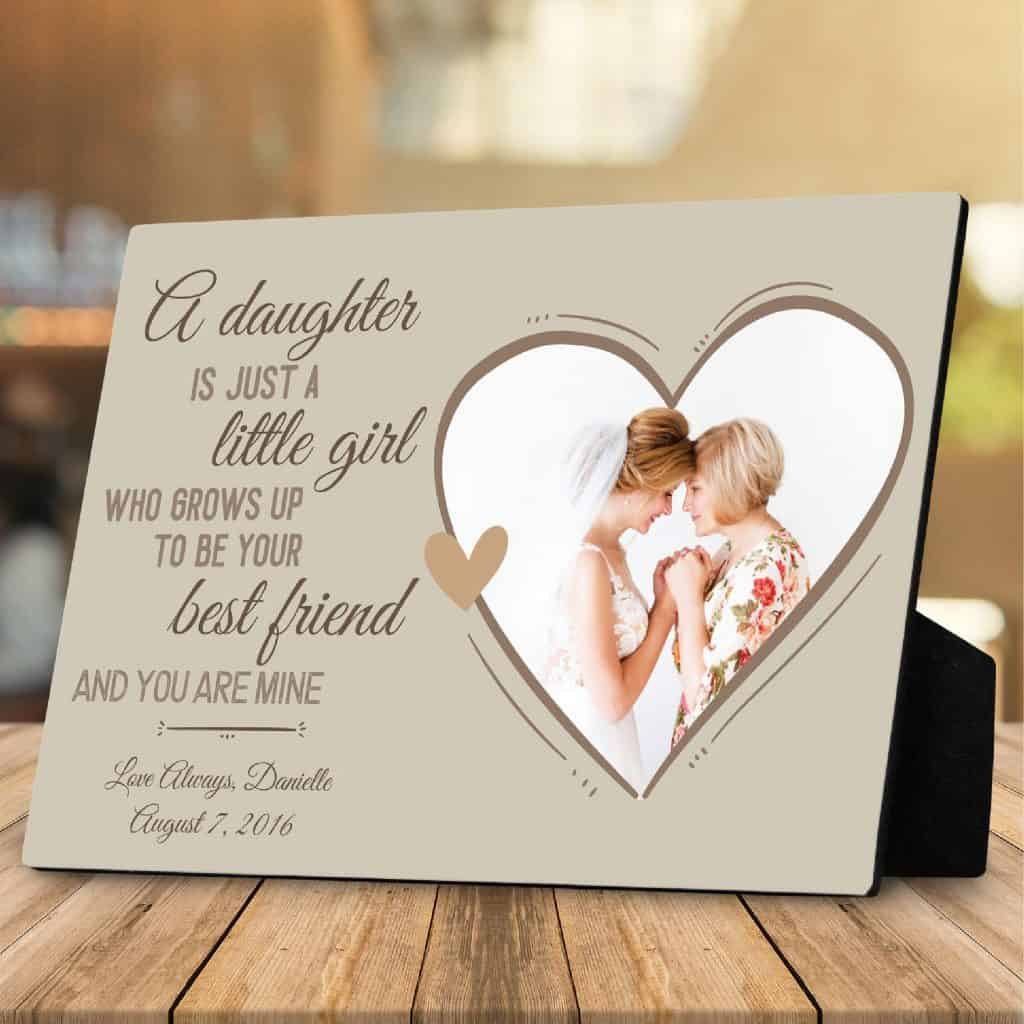 A Daughter Is Just A Little Girl Custom Photo Plaque