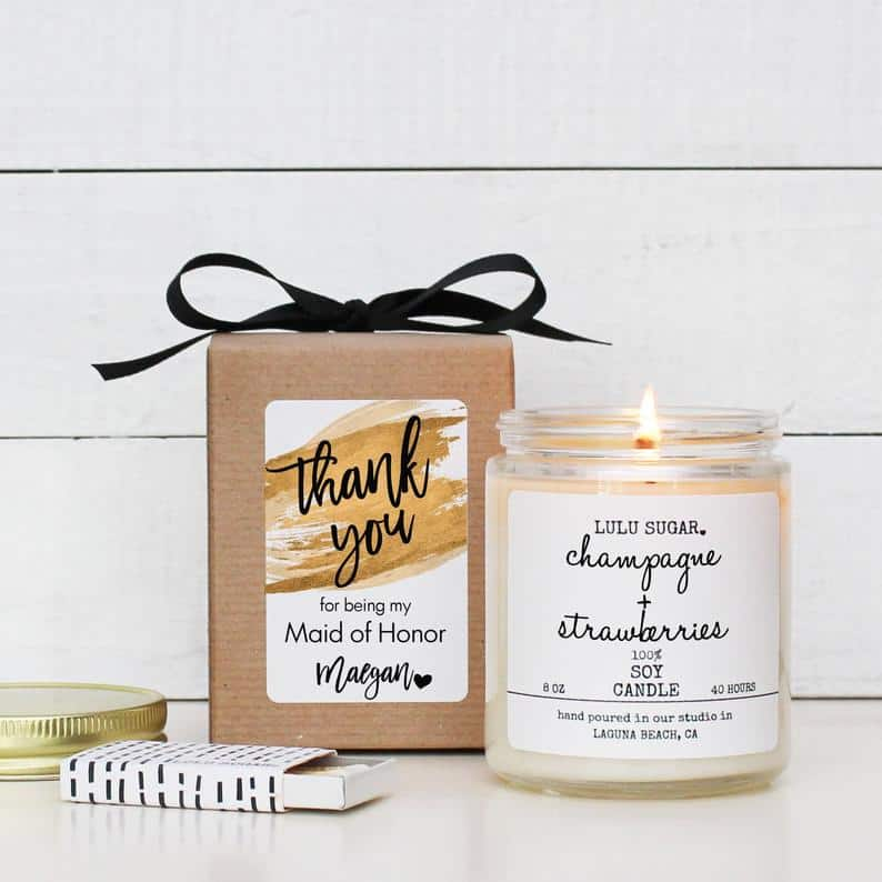 original thank you gifts:Candle