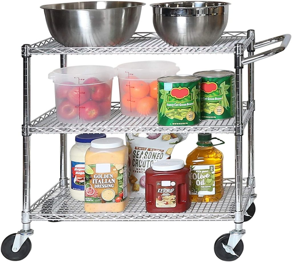 what to register for wedding:Cart Shelving with Wheels