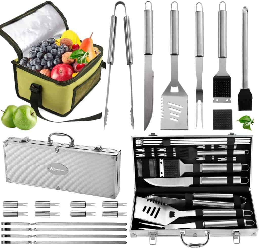 Complete Grill Accessories Kit with Cooler Bag