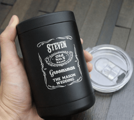 Black Stainless Steel Can Cooler Tumbler