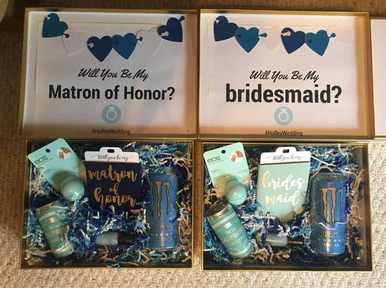 DIY Printable Maid of Honor Box Designs