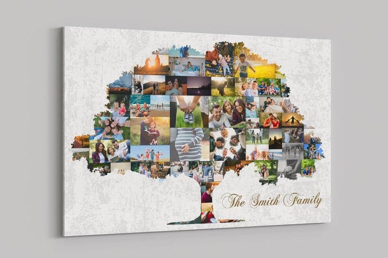 parents wedding gifts ideas:Family Tree Art Print Wall Art