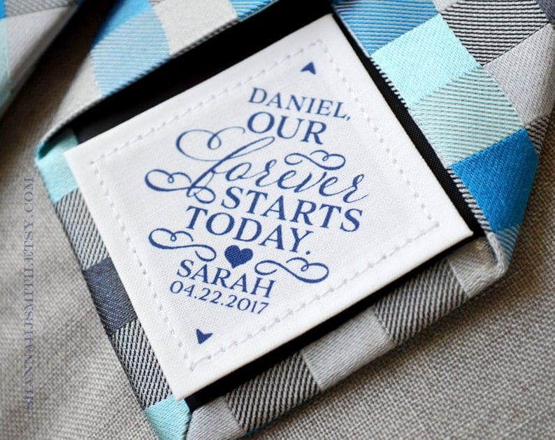 Groom Personalized Tie Patch