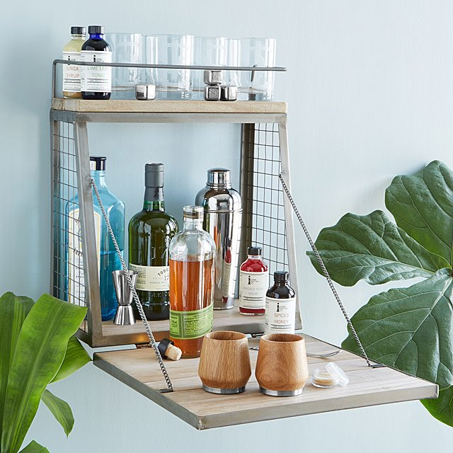 wedding gift registry ideas:Hanging Cocktail Bar