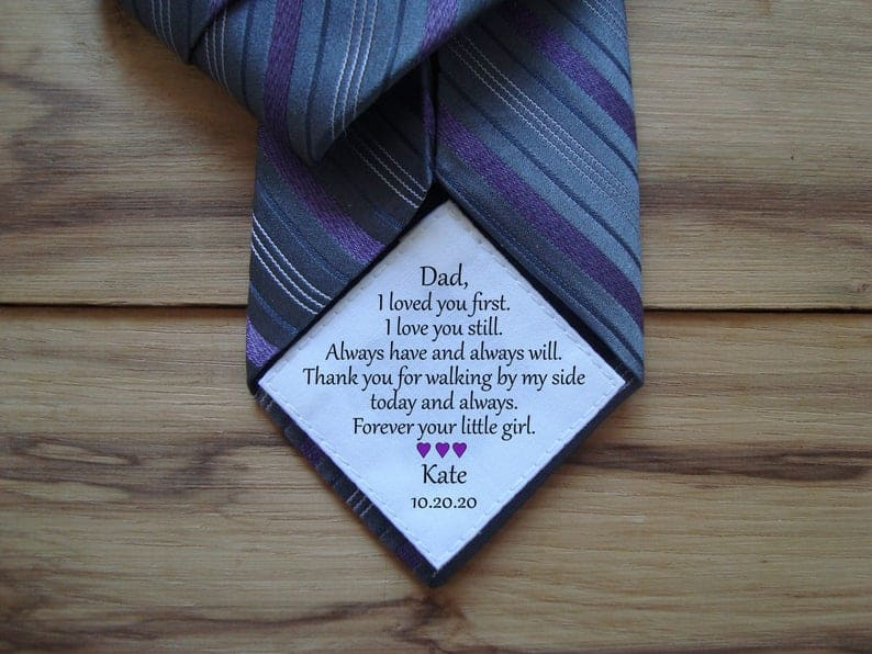 father daughter gifts:Heart-Shaped Sew Or Iron On Tie Patch