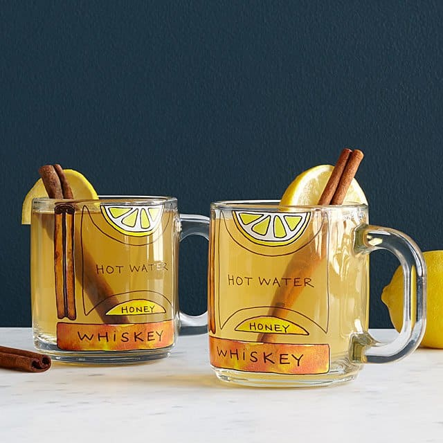 cool grooms gifts:Hot Toddy Diagram Glassware - Set of 2
