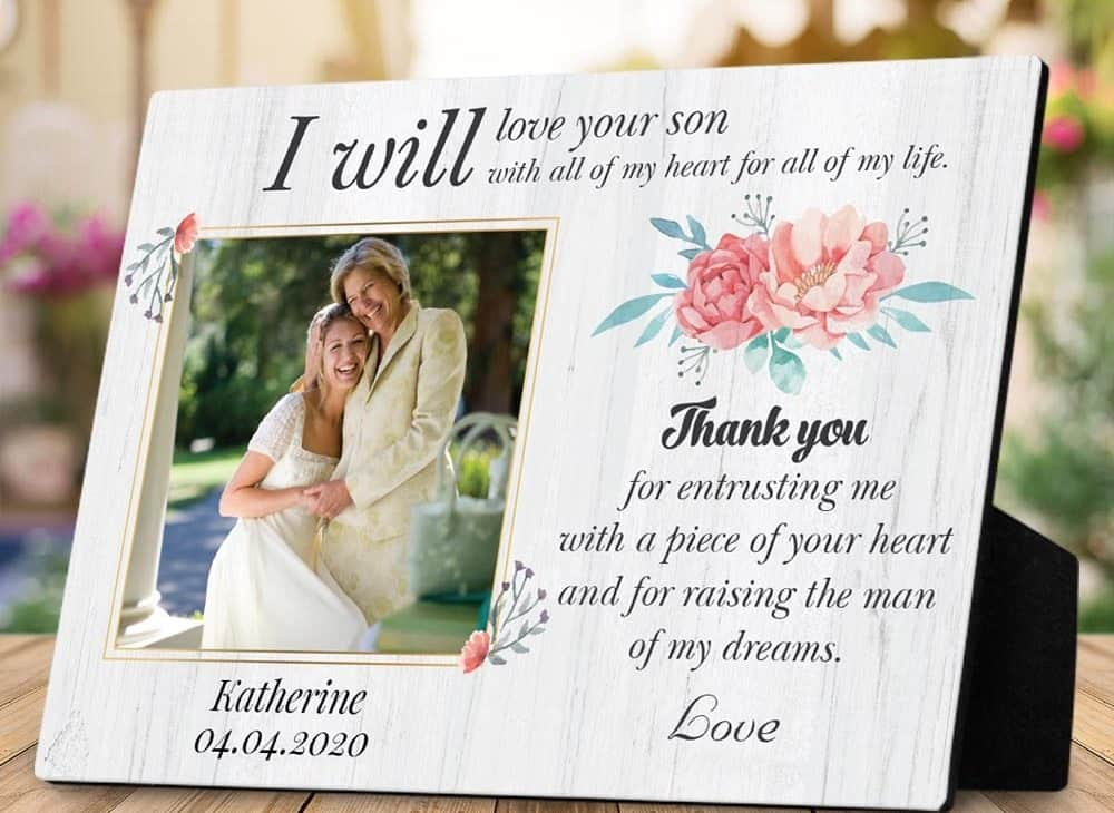 Mother of the Groom Gift Photo Plaque