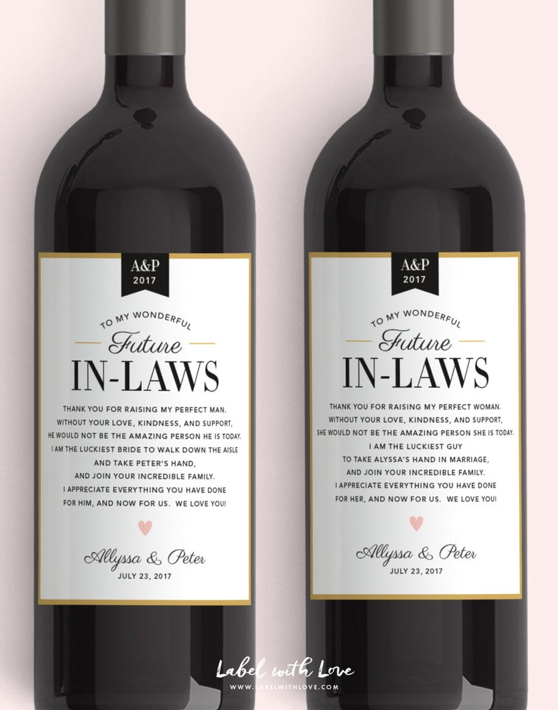 In Law Wine Labels