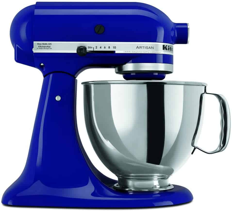 top wedding registry items:KitchenAid RRK150BU 5 Qt. Artisan Series - Cobalt Blue