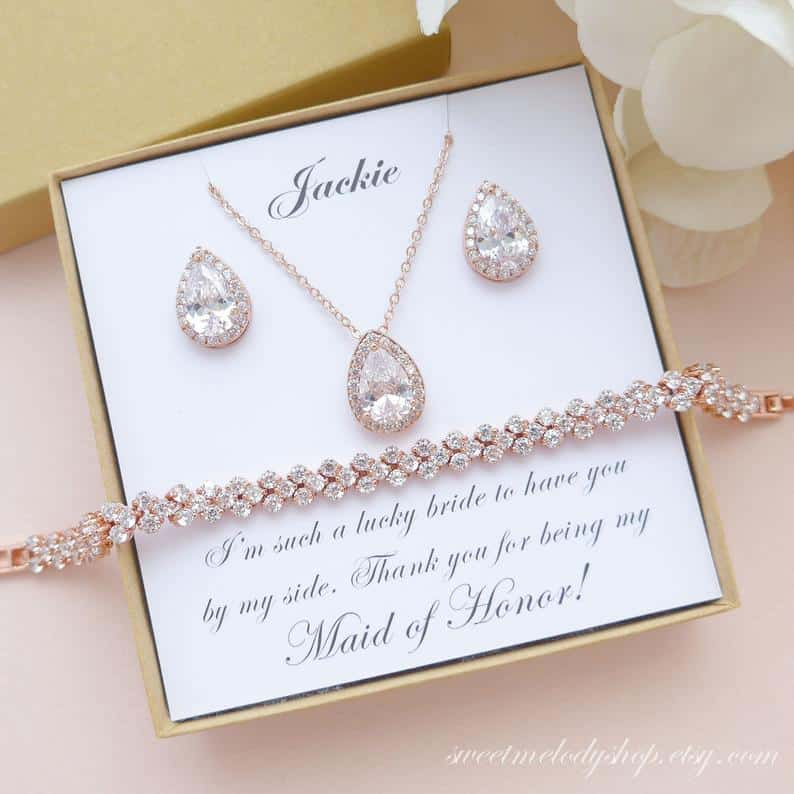 sister matron of honor gift:Maid of Honor Jewelry Set