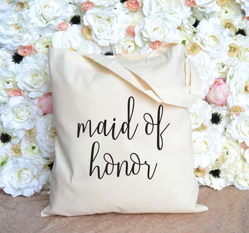 honor gift:Maid of Honor Tote