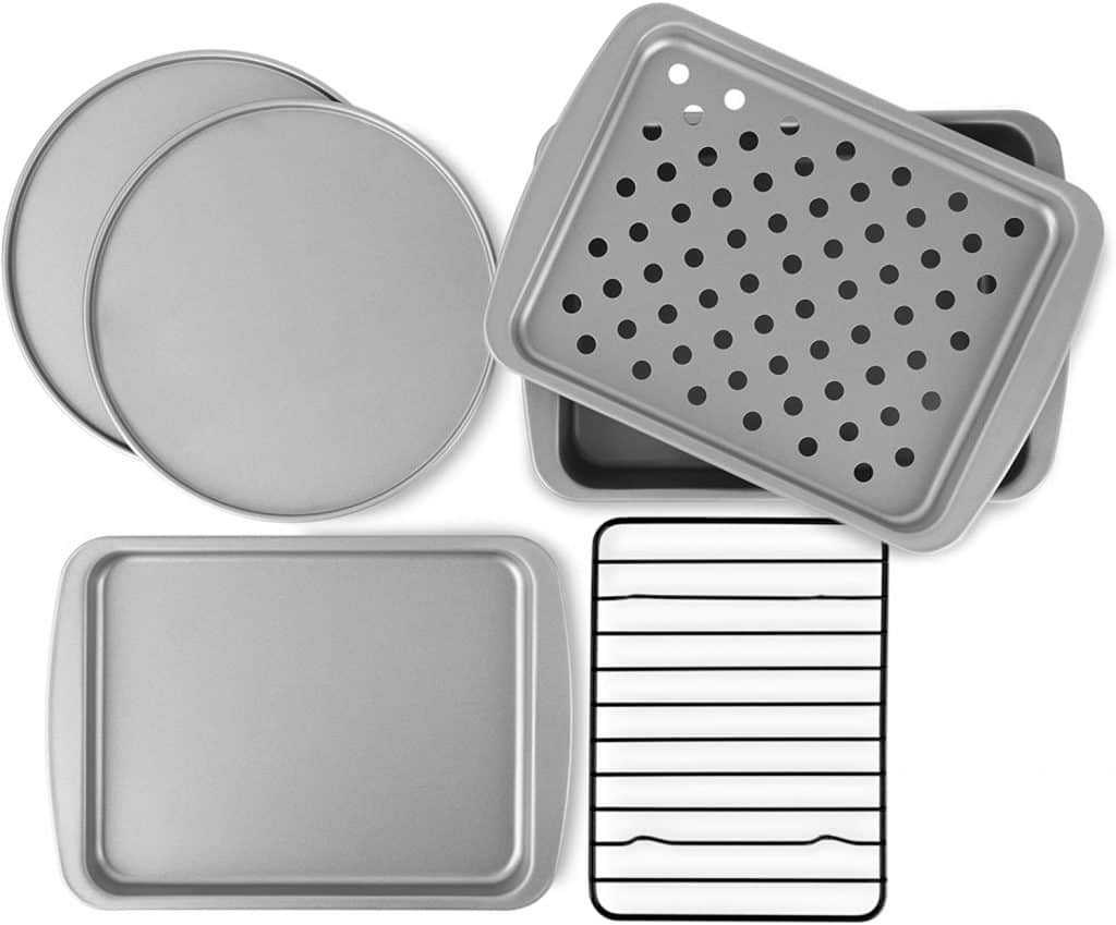 what to register for:Non-Stick 6-Piece Toaster Oven Baking Pan Set