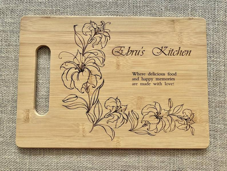 bridal shower gifts from mother of the groom:Personalized Cutting Board