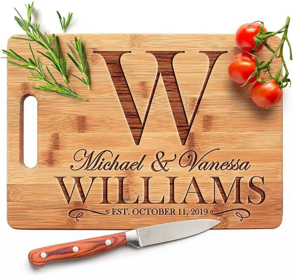 cool expensive things to buy:Personalized Cutting Board