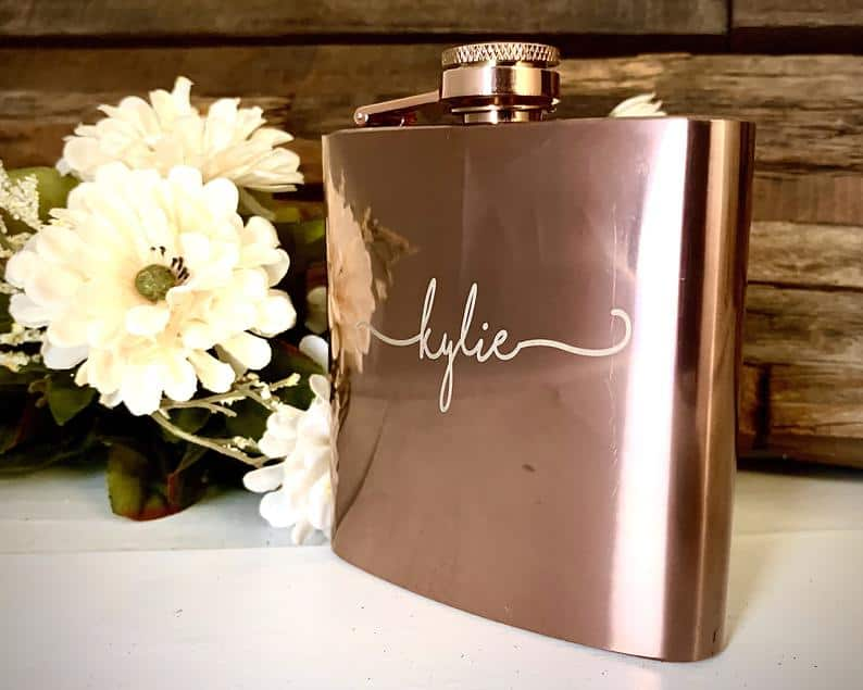 gifts for matron of honor wedding:Personalized Flask