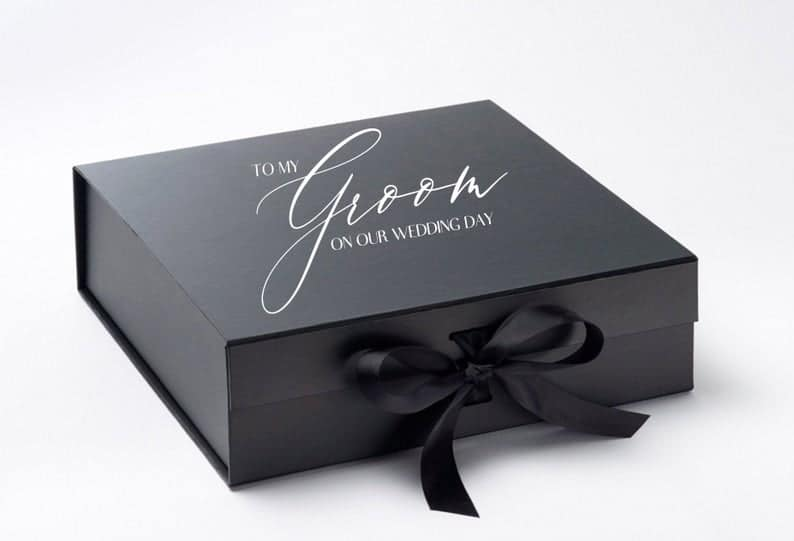 nice gifts for husband:Personalized Groom Gift Box