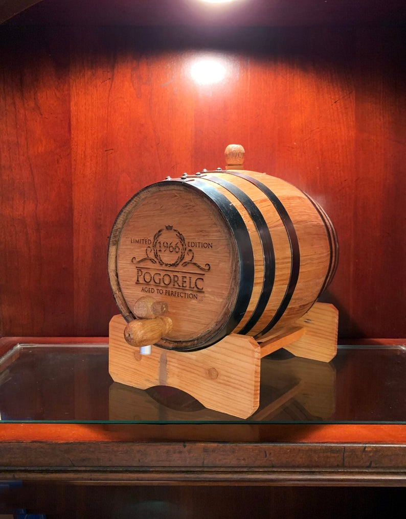 must have item:Personalized Oak Whiskey Barrel