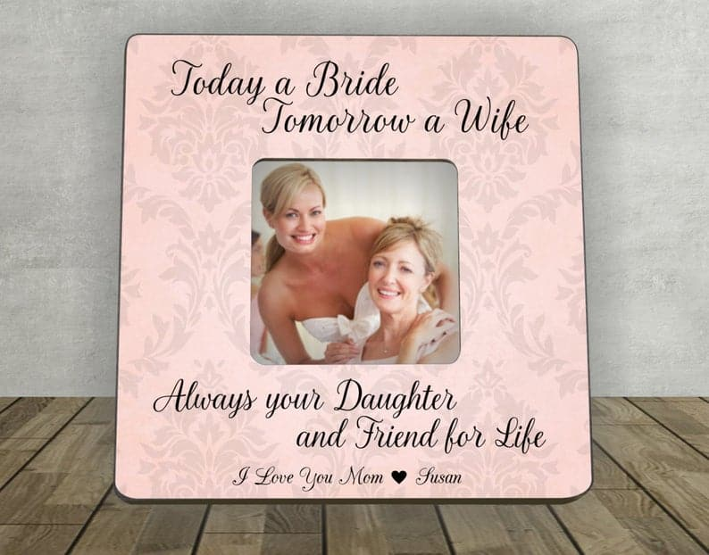 mother of the bride gift ideas:Personalized Picture Frame