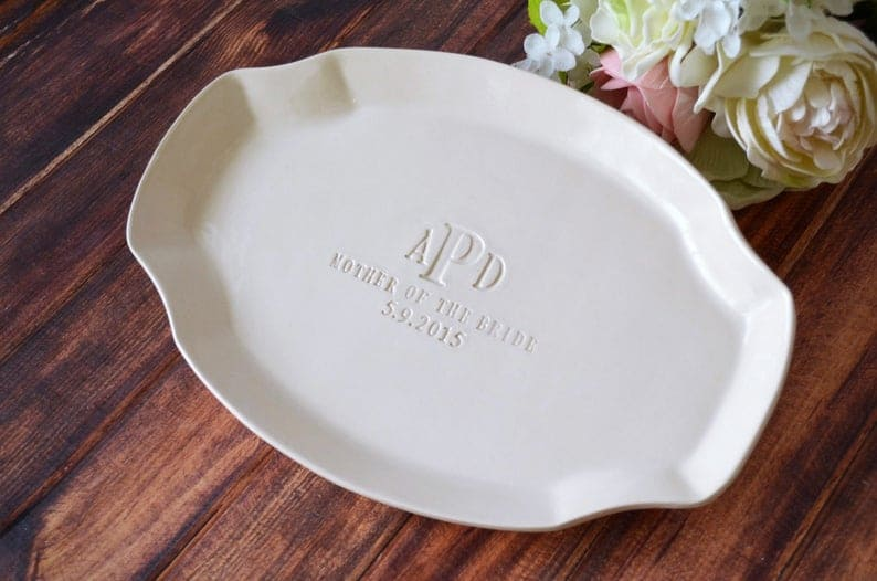 gift ideas for mother of the bride:Personalized Platter