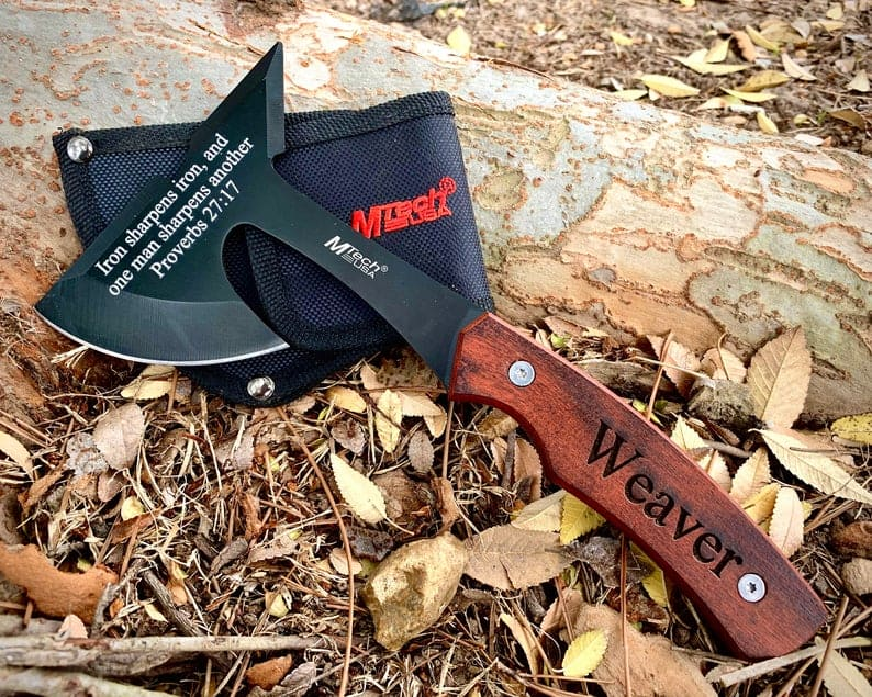 gifts to give your groom:Personalized Throwing Axe, Hatchet