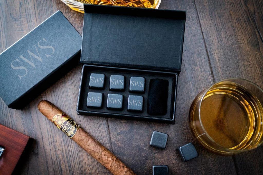 perfect wedding gift ideas:Personalized Whiskey Stones, Groomsmen Gift