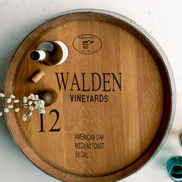 wedding gift to parents:Personalized Wine Barrel Lazy Susan