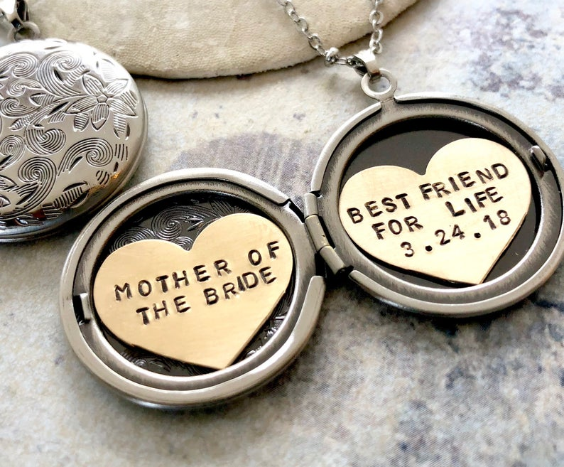 mother of the bride gifts etiquette:Personalized Locket Necklace