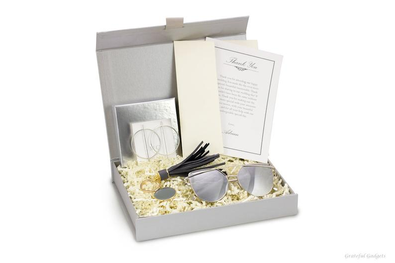 Silver Sunglasses Wedding Spa Gift Box