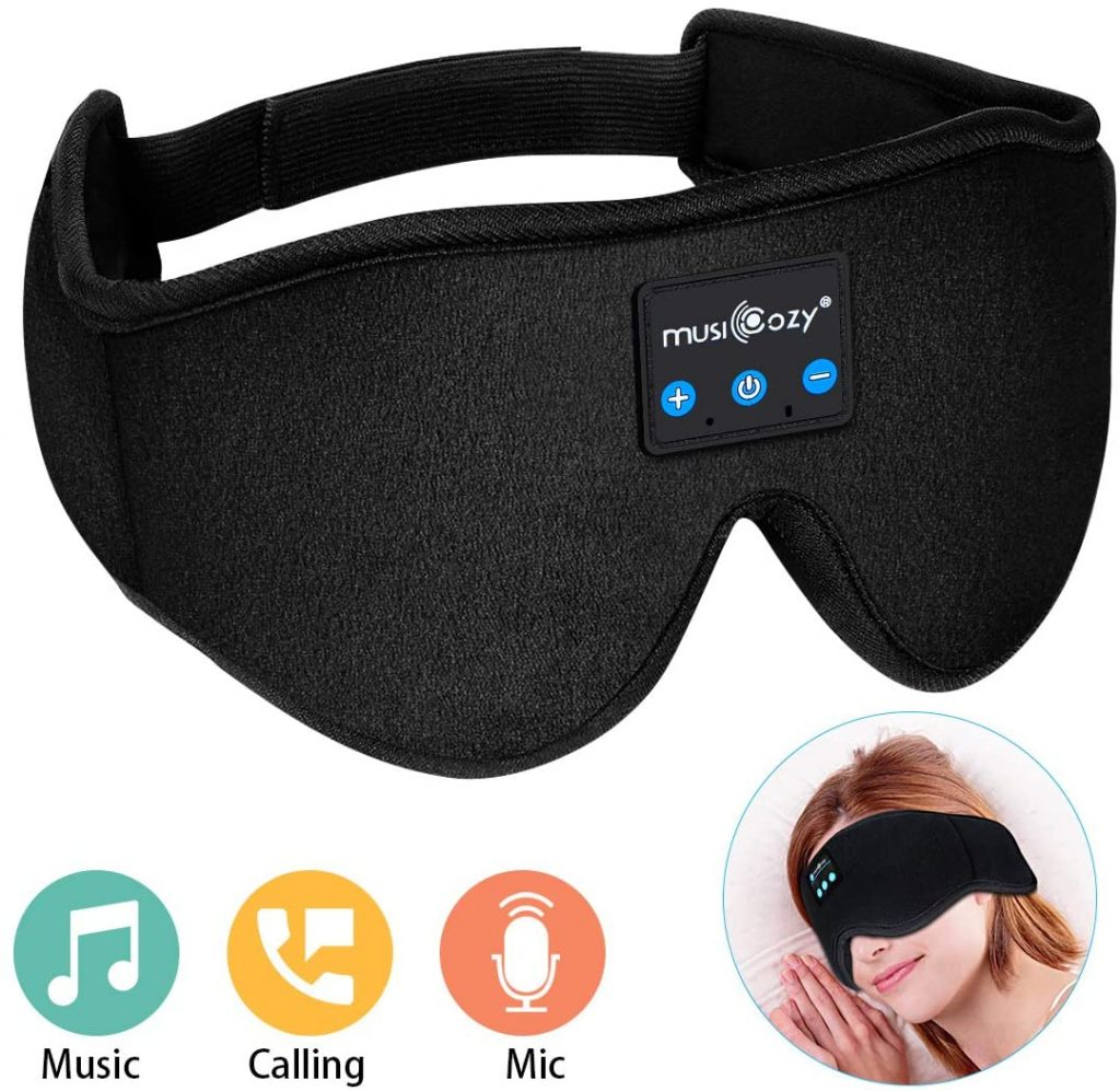 funny wedding party gifts:Sleep Headphones Bluetooth Wireless Sleeping Eye Mask