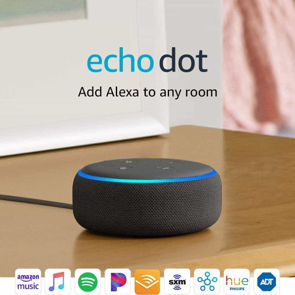 wedding gifts for father: Smart Speaker With Alexa - Charcoal