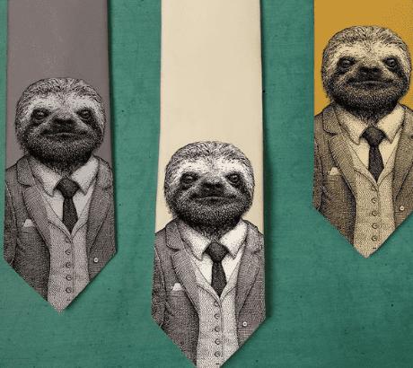Stylish Sloth Necktie