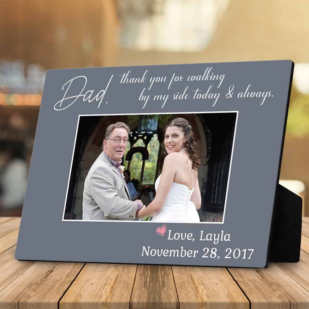 father in law wedding gifts:Thank You Dad Custom Photo Plaque for Father of the Bride