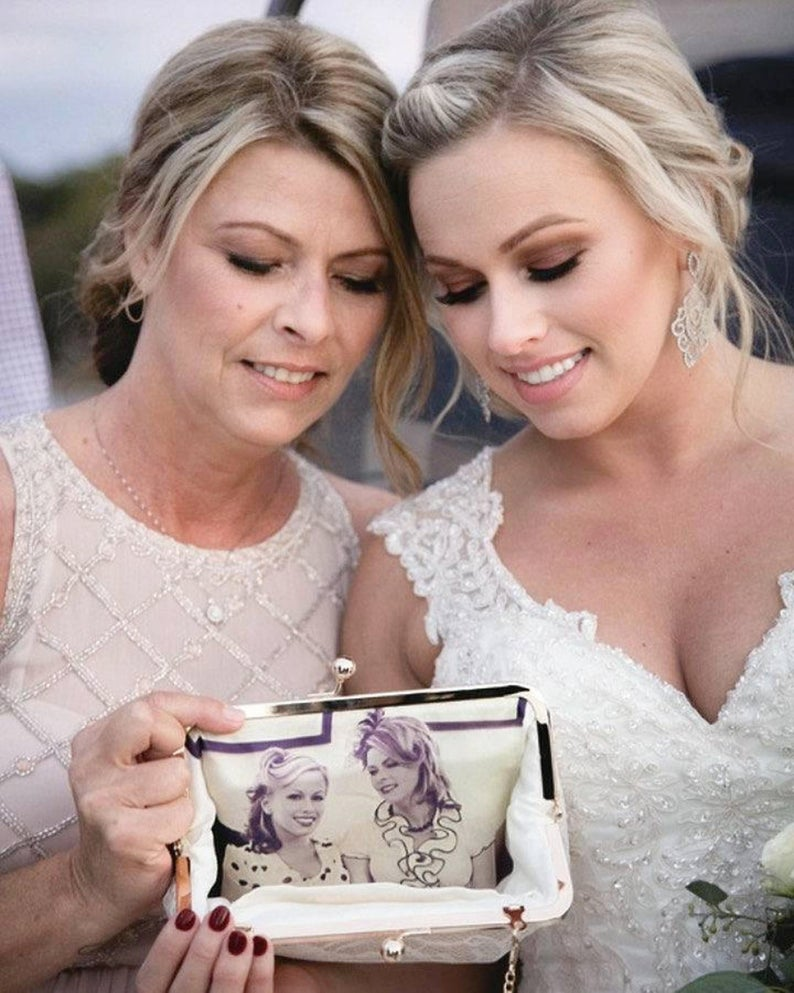 mother of the bride presents:The Original Personalized Photo Clutch