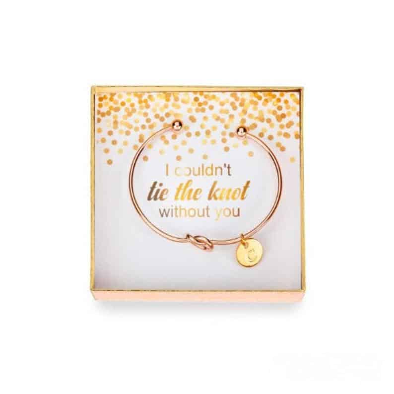 unique maid of honor gift: Tie the Knot Jewelry