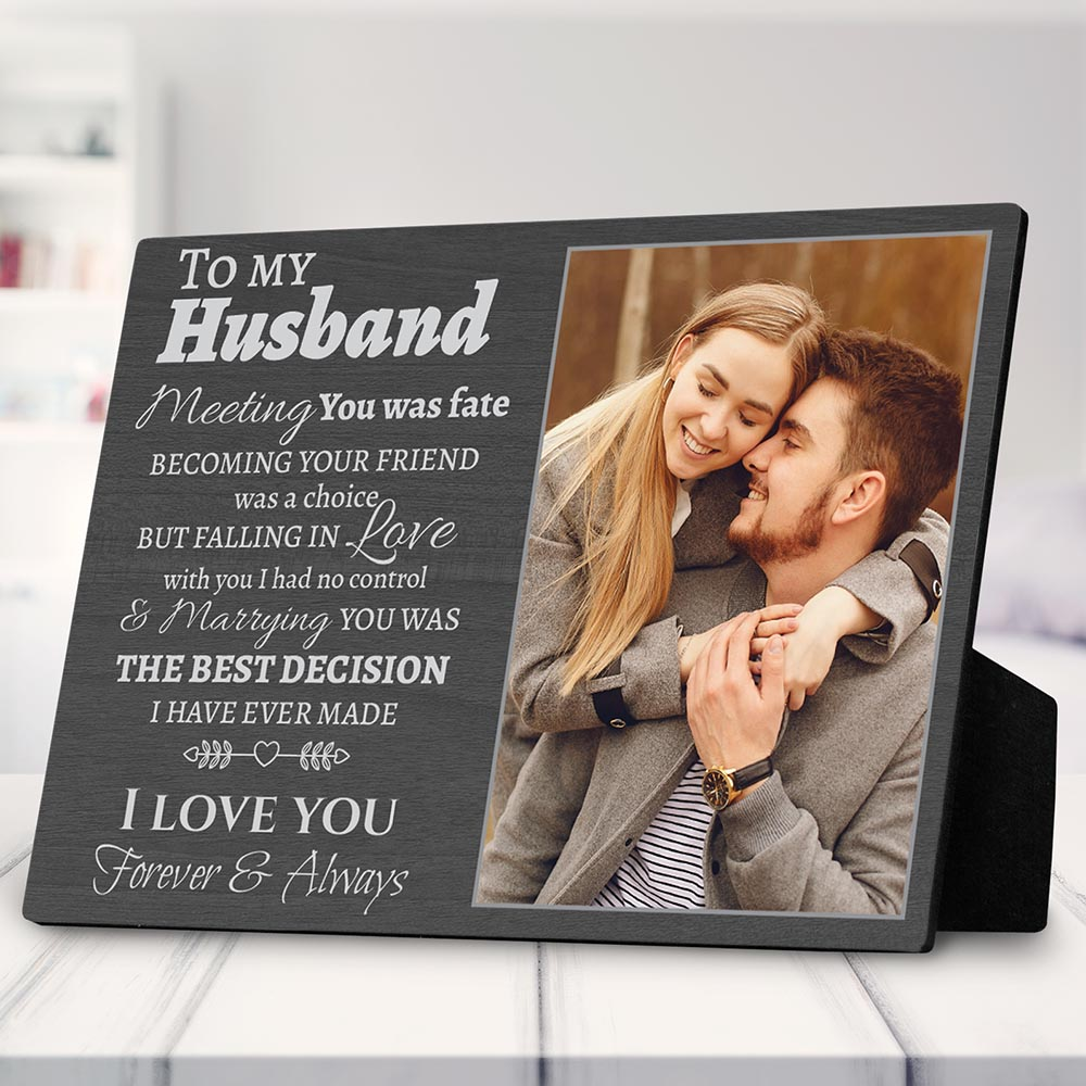 grooms mans gifts:To My Husband Gift for Husband Custom Photo Plaque