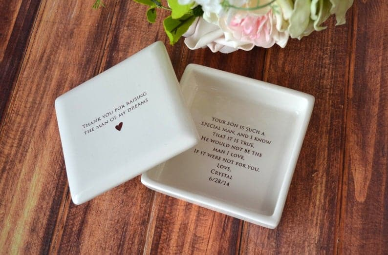 mother of groom gifts:Unique Square Keepsake Box