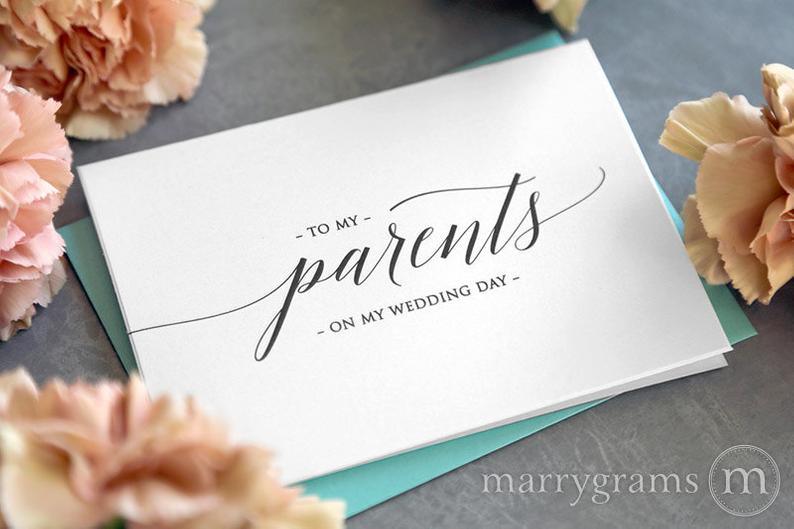 wedding thank you to parents:Wedding Card to Your Parents -